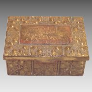 German  Arts and Crafts Pressed Brass Dresser Box