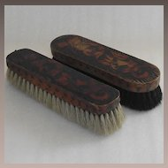 Pyrography Shoe Brush  with Maple and Acanthus Leaves