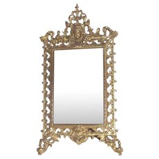 Victorian Gilt Table Mirror with Puti or Cherub a Perfect Wedding Frame