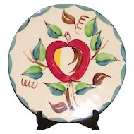 Vintage Mid Century Purinton Apple Pattern Charger Chop Plate