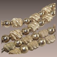 Mid Century Coro Gold Tone Bead Necklace