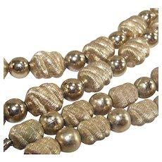 Mid Century Coro Gold Tone Bead Necklace