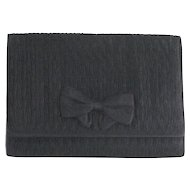 Carla Marchi Clutch Quilted Black Satin