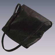 LOEWE of Madrid Shoulder Bag SOFT Black Leather Authentic