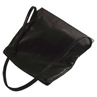 LOEWE of Madrid Shoulder Bag SOFT Black Leather Authentic