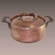 Two Quart Copper Stock Pot