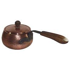 Copper Swiss Fondue Pot  Hand Hammered