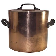 Copper One Gallon Stockpot with Lid