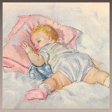 Maud Tousey Fangel Baby Prints Three Piece 1940's