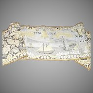 American Sesquicentennial Tapestry with the Brooklyn Bridge American Flags and Eagles dated 1776 - 1926
