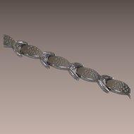 Sterling Silver Fish Line Style Bracelet