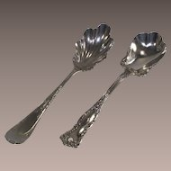 Two Vintage Sugar Spoons One is Aesthetic Movement