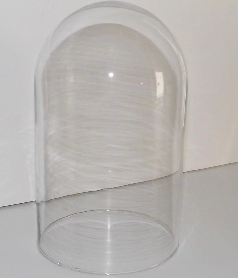 "Vintage Victorian Glass Dome Cover Clear 8"" Tall : Bonnie ..."