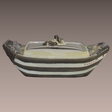 Wedgwood Majolica Sardinia Sardine Box with Cover circa 1875