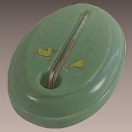 Mid Century Celluloid Babies Bath Water Thermometer with Yellow Duckies
