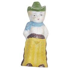 Mid Century Bisque Japanese Cowboy Figurine