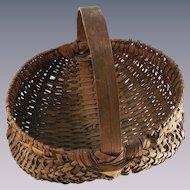 Antique Half Melon - Buttocks Basket Oak Splint Hand Made
