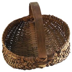Antique Half Melon - Buttocks Basket Oak Splint Hand Made