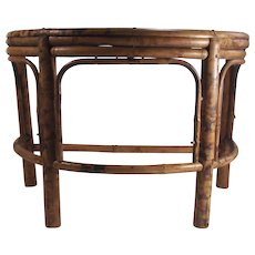 Vintage Bamboo Display Stand Large Demi Lune Shape