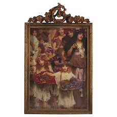 Victorian Era Table Picture Frame For the  Bride and Groom
