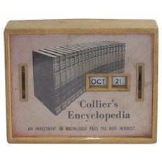 Vintage All Coin Calendar Bank-Collier's Encyclopedia