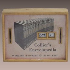 Vintage All Coin Calendar Bank-Collier's Encyclopedia
