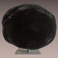 Sheered Black Faux Fur Ladies Hat