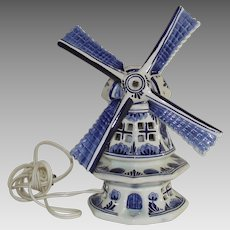 Delft Wind Mill Table Lamp