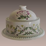 Portmeirion Botanic Garden Cheese Dome With Under Liner Plate
