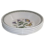 Portmeirion Botanic Garden Flat Soup Bowl set of 4