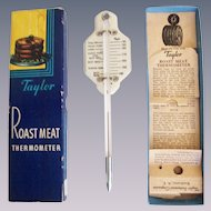 Vintage Taylor Roast Meat and Poultry Thermometer with Original Box
