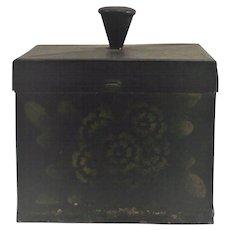 American Tin Toleware Spice Box Circa Early 19th Century