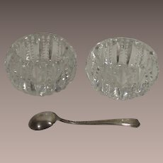 American Brilliant Period Salt Dips Two Piece Pair