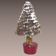 Vintage Pipe Cleaner and Paper Mache  Christmas Tree