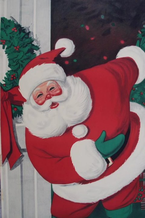 Vintage 1962 Paper Santa Door Cover from Sears Roebuck and Co & Vintage 1962 Paper Santa Door Cover from Sears Roebuck and Co ...
