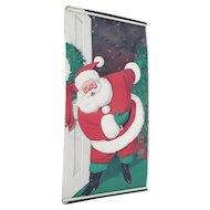 Vintage 1962 Paper Santa Door Cover from Sears Roebuck and Co