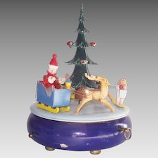 Vintage Steinbach Music Box Christmas Tree Volkskunst Germany