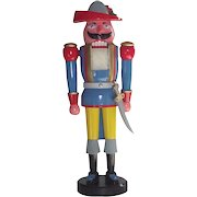 Vintage German Nutcracker, the Musketeer with Original Box.
