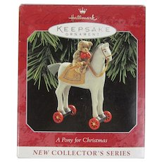 Vintage 1998 Hallmark Keepsake Ornament A Pony For Christmas First in Series