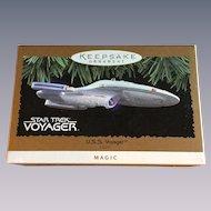 Vintage Star Trek Voyager Magic Lighted Christmas Ornament 1996 in Box