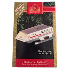 Vintage 1992 Shuttlecraft Galileo Hallmark Christmas Ornament Light & Voice