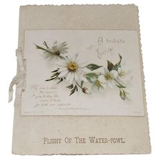 "Victorian Raphael Tuck Sympathy Card ""A Tribute of Love"""