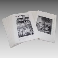 Vintage Skidmore College Boxed Set of American Architecture Photographs and Floor Plans