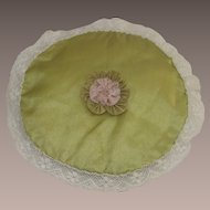 Vintage 1920's French Rose Silk and Lace Sachet