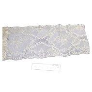 Vintage Edwardian Bridal Lace Yardage  46 Inches Long