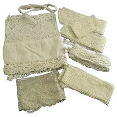 Vintage Lot of Hand Made Lace and Trim Yardages