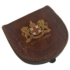 Vintage Squire Leather London England  Coin Purse