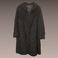 Vintage Women's Full Length Curly Lamb Coat