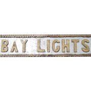 "Vintage Coast of Maine, Chip Carved Wooden Sign, ""Bay Lights"
