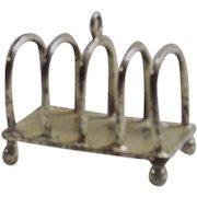 Vintage Sterling Doll Toast Rack